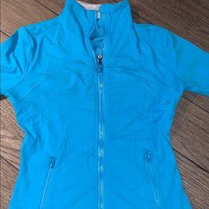 light blue lululemon zip up sweat shirt